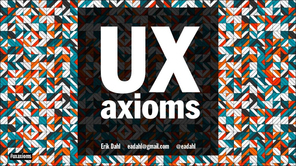 UX-axioms